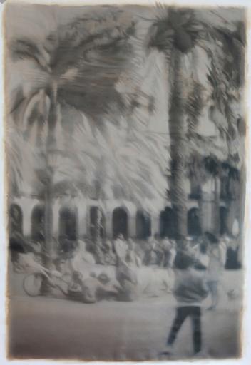 Jean-Marc AMIGUES - Pittura - Barcelone Plazza Réal