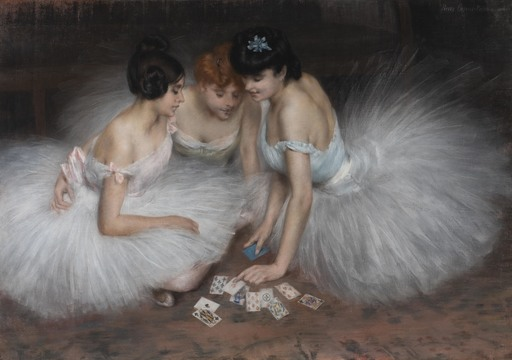 Pierre CARRIER-BELLEUSE - Peinture - La partie de cartes