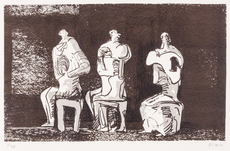 Henry MOORE - Print-Multiple - Three seated figures in setting