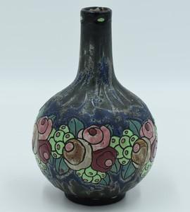 Charles CATTEAU - Vase boule haut col