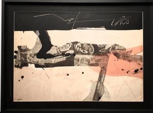 Manolo MILLARES - Painting - Hombre caído