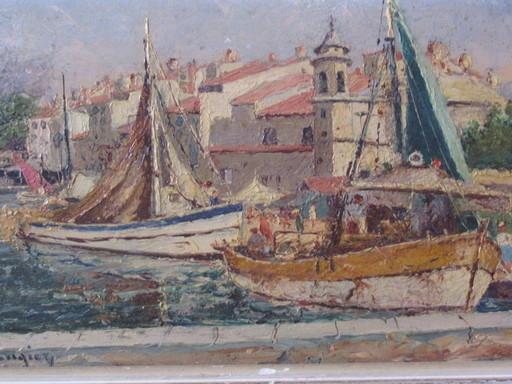 Charles LAUGIER - Pittura - Scène portuaire