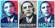 "Shepard FAIREY - Estampe-Multiple - ""Obama"" (3)"