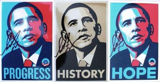 "谢帕德·费瑞 - 版画 - ""Obama"" (3)"