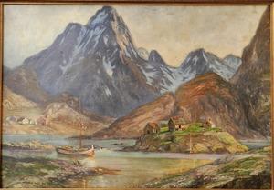 Alois LEBEDA - 绘画 - Village under the mountains