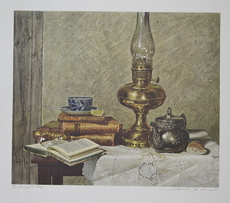 Gunter KORUS - Grabado - Still Life with Lamp