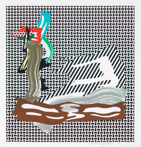 Roy LICHTENSTEIN - Stampa-Multiplo - Brushstroke on Canvas