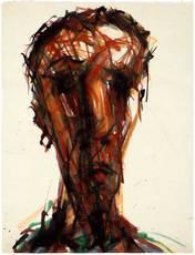 Max UHLIG - Drawing-Watercolor - Männerkopf T.M.