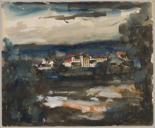 Maurice DE VLAMINCK - Dessin-Aquarelle - Landscape