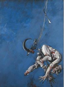 "Vladimir VELICKOVIC - Peinture - ""Crochet, Fig VII"", 1986-1988."