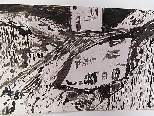 Arnold FIEDLER - Disegno Acquarello - Ohne Titel - abstrakte Zeichnung