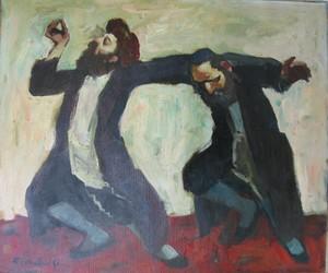 Adolf ADLER - Painting - Dancing to Celebrate