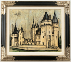 Bernard BUFFET - Painting - Chateau La Coudray Montpensier