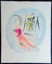 马克•夏加尔 - 版画 - The Easel | Le Chevalet