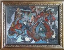 Jacques DOUCET - Painting - Dechirures Nocturnes