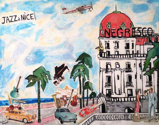 Richard BOIGEOL - Gemälde - Jazz à Nice