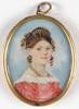"""Johann Friedrich HESSE - 缩略图  - Johann Friedrich Hesse """"Portrait of a young woman"""""""