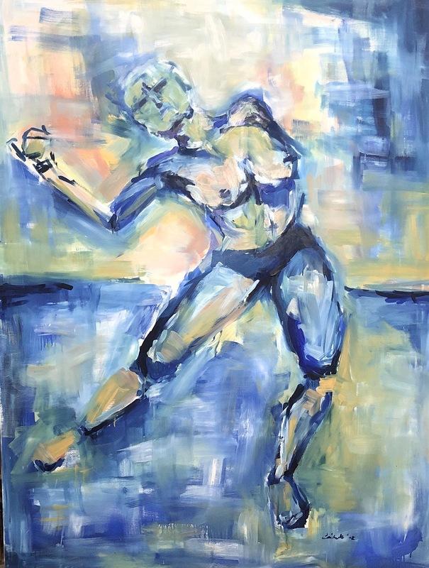 Nicole LEIDENFROST - Gemälde - Bewegungsakt