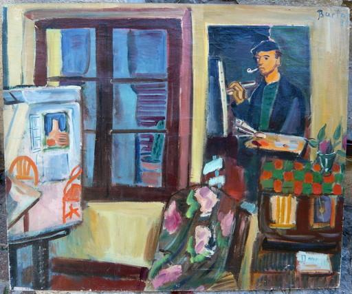 Laszlo BARTA - Gemälde - autoportrait