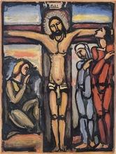 Georges ROUAULT - Pintura - Christ en croix