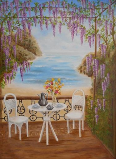 Fabienne DELORD-DESCOURVIERES - Peinture - Sous la Glycine