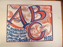 Conrad FELIXMÜLLER - Grabado - ABC - Ein geschütteltes, geknütteltes Alphabet in Bildern.