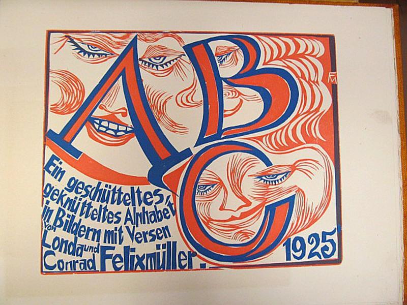 Conrad FELIXMÜLLER - Print-Multiple - ABC - Ein geschütteltes, geknütteltes Alphabet in Bildern.