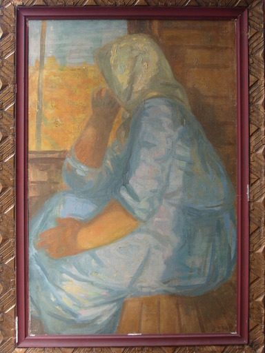 Tibor DURAY - Pintura - At the Window (Ablak Elott)