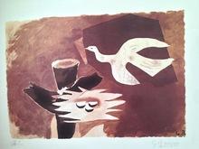 Georges BRAQUE - Estampe-Multiple - Oiseau et son nid