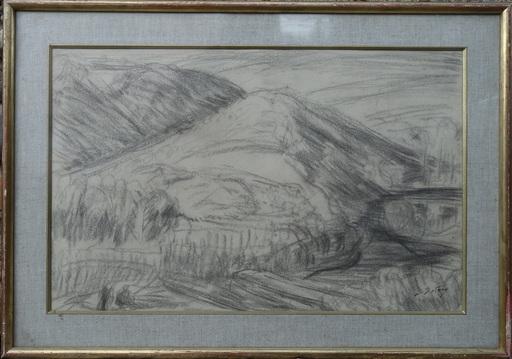 Léon DETROY - Drawing-Watercolor - Paysage de la Creuse