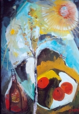 Bernard MOREL - Painting - LES 3 FRUITS