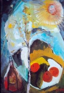 Bernard MOREL - Peinture - LES 3 FRUITS