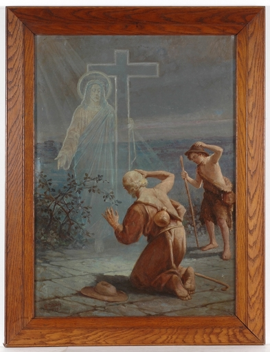 George DRAH - Painting - Religious Oil Painting, 1909