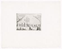 詹姆斯.恩索尔 - 版画 - Assemblée dans un parc