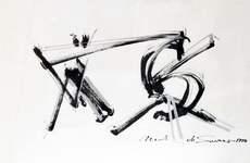DI SUVERO Mark - Drawing-Watercolor - Etude pour Esope