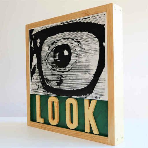 Joe TILSON - Scultura Volume - LOOK