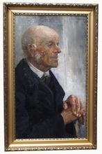 "Wilhelm WODNANSKY - Pintura - ""Old Man"", Oil on Canvas, 1902"