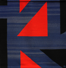 Pierre CLERK - Tapiz - Red, Blue, Black #15