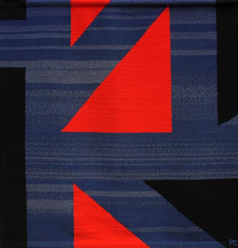 Pierre CLERK - Tapiz - Red, Blue, Black #15
