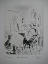 André Albert Marie DUNOYER DE SEGONZAC - Grabado - GRAVURE 1930 SIGNÉE À L'ENCRE HANDSIGNED ETCHING CLOWN