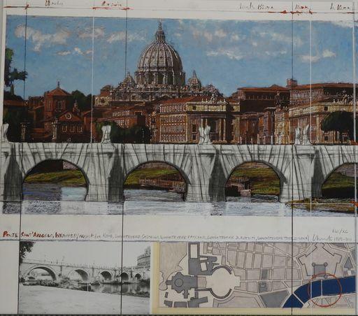 克里斯托 - 版画 - Ponte Sant Angelo