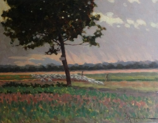 Attilio GUFFANTI - Gemälde - Le troupeau