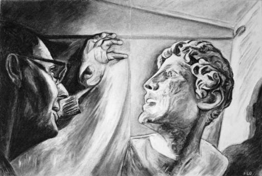 Flo JAOUEN - Drawing-Watercolor - « Le magicien »