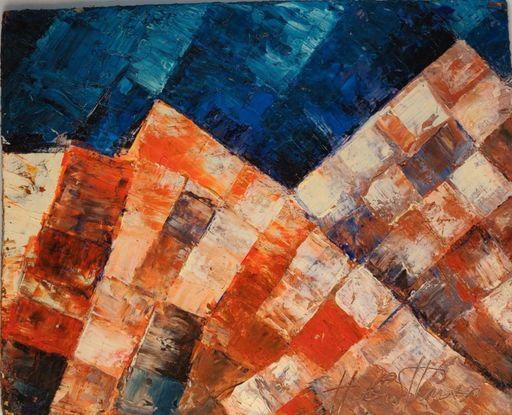 Harry GUTTMAN - Pittura - Composition, 1960