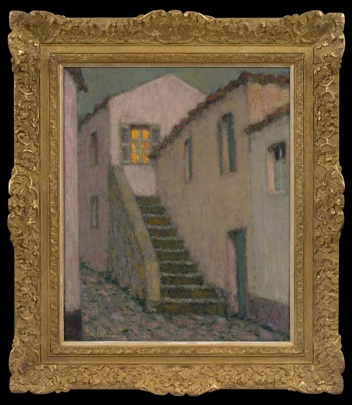 Henri LE SIDANER - Painting - L'Escalier