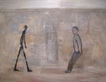 María GOMEZ - Peinture - Encuentros con Giacometti