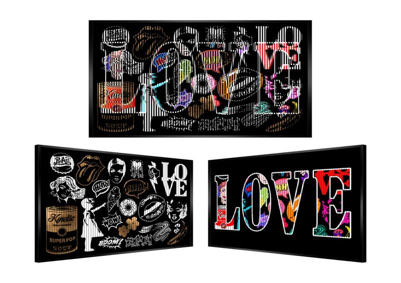 Patrick RUBINSTEIN - Painting - Et boom! Du Love