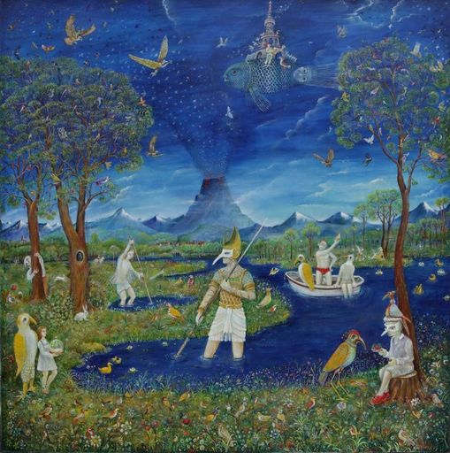 Vasily KAFANOV - Painting - Сountry of birds
