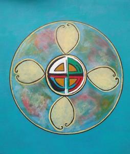 ATCHAMA - Painting - fleur du pardon