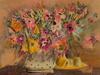 """Monique JOURNOD - 版画 - """"Bouquet royal""""1995."""
